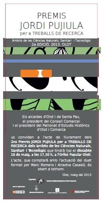 Premis Jordi Pujiula 2013